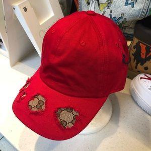 d13ba6bacdb ... Authentic GG Fabric Repurposed Hat Authentic LV ...